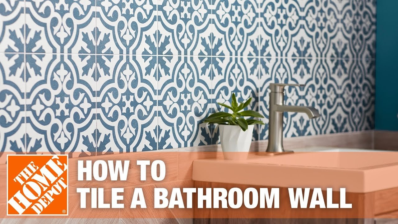 how to tile a bathroom wall the home depot