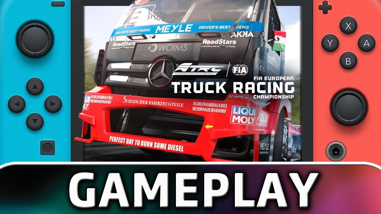 FIA European Truck Racing Championship | 10 Minutes of Gameplay on Nintendo Switch