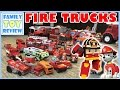 Toy Trucks - Fire Trucks For Kids Fire Engines Collection - Paw Patrol Marshall & Robocar Poli Roy