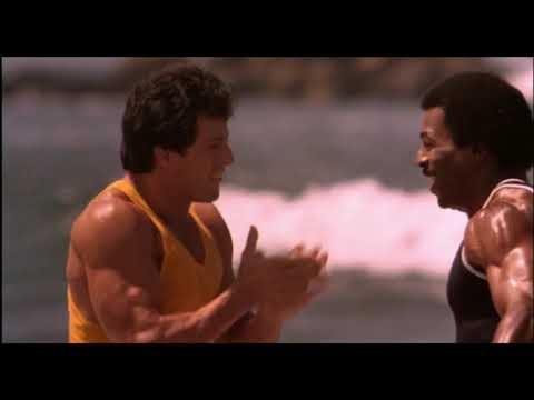 Rocky III (1982) | Santa Monica Beach | Filming Locations - Sylvester Stallone, Carl Weathers