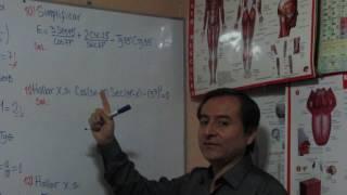 Razones Trigonométricas Recíprocas y Ángulos Complementarios Ejercicios Variados.
