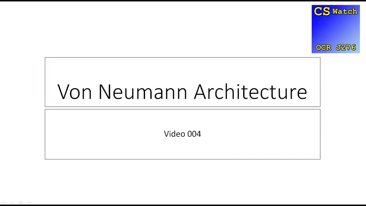 Cswatch j276 004 von neumann architecture youtube for Architecture von neumann