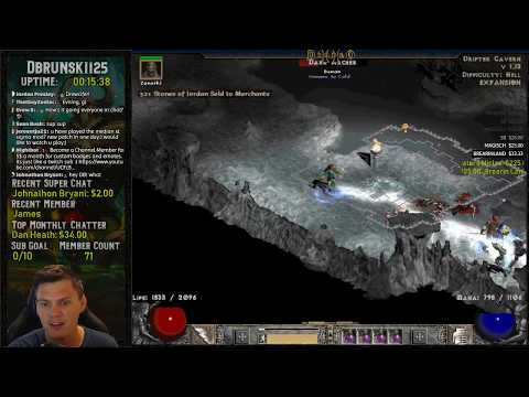 Diablo 2 - Hipster Thursday!! Grinding the Drifter Cavern for GG sparkly  chest drops!!! 07/18/2019