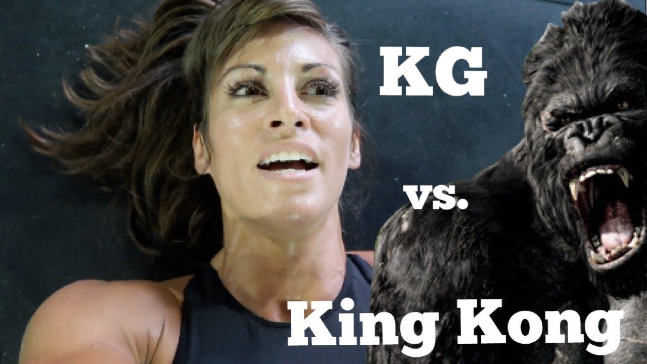 Kristen Graham vs. King Kong  +  Beach Volleyball!!!