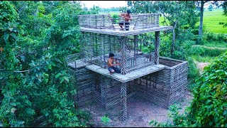 Creative The Most Greatest 2-Story Villa Construction By Primitive Techniques