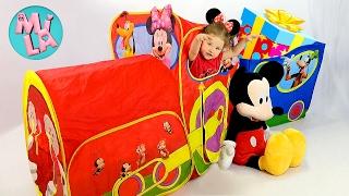 Паровозик МИННИ МАУС Подарок Видео для Детей Disney Mickey Mouse Train Tent Toys Lego КОНКУРС