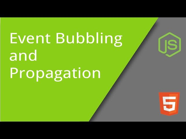 JavaScript Event Bubbling and Propagation