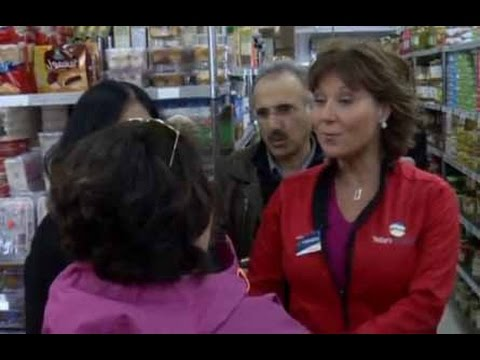 BC PREM. Christy Clark Walks Away From NonSupporter While Mainstreeting  IamLinda