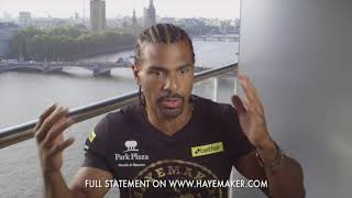 'I AM NO LONGER A PROFESSIONAL BOXER' - DAVID HAYE CONFIRMS HIS RETIREMENT IN HONEST STATEMENT