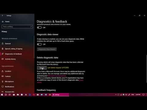 Windows 10 April 2018 update How to delete Diagnostics data from Microsoft