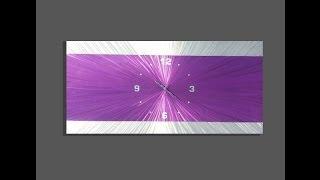 Purple Metal Wall Clock Design