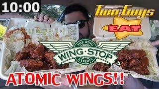 WING STOP ☆ATOMIC WINGS☆ Hottest Wings CHALLENGE!!!