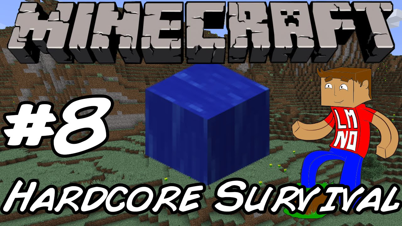 Minecraft: Hardcore Survival - Unintentional Water Slide! - 8
