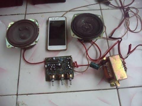 membuat speaker aktif mini stereo 12 volt