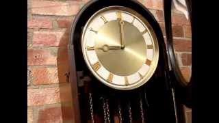 Antique German  Westminster Striking  Grandmother Clock Longcase Clock See Video