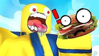 屌德斯 小熙 Roblox吃货模拟器 变身奇怪的食物给巨人投食
