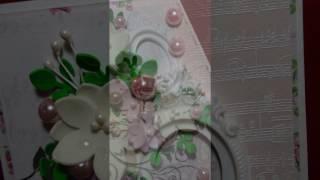 Видео-обзор. Открытка ручной работы №4. Скрапбукинг