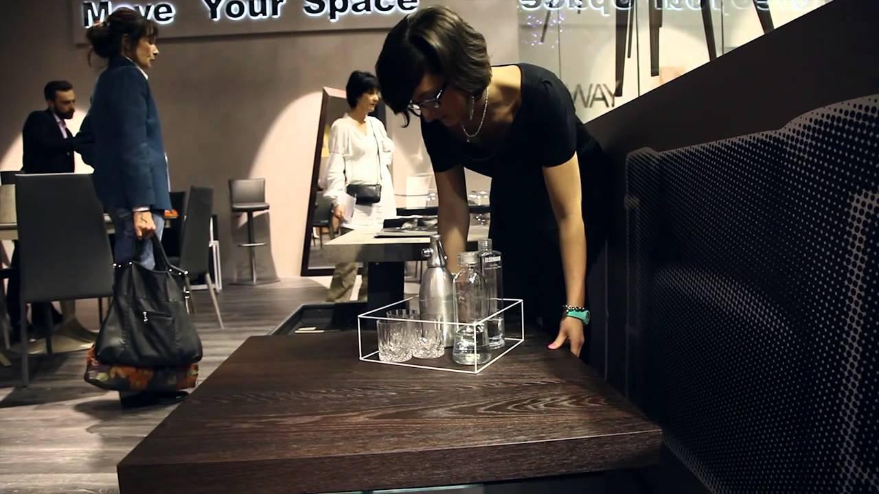 Magic By Ozzio Design.Bellagio By Ozzio Design Tavolino Trasformabile Transformable Table