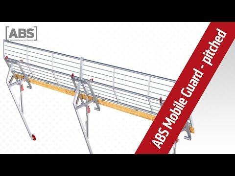 Absturzsicherung: Steildach Schutzgeländer ABS Mobile Guard – pitched