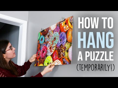 How To Hang A Jigsaw Puzzle (Temporarily!)