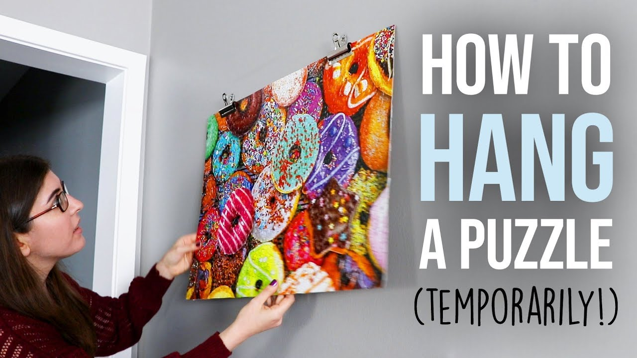 How To Hang A Jigsaw Puzzle Temporarily Youtube