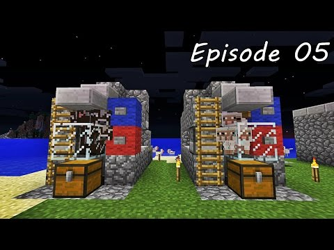 Minecraft เอาชีวิตรอด - Episode 05 - ฟาร์มวัวอัตโนมัติ และ ฟาร์มแกะอัตโนมัติ