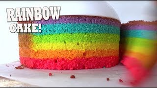 Rainbow Cake that actually bakes in rainbow layers!!
