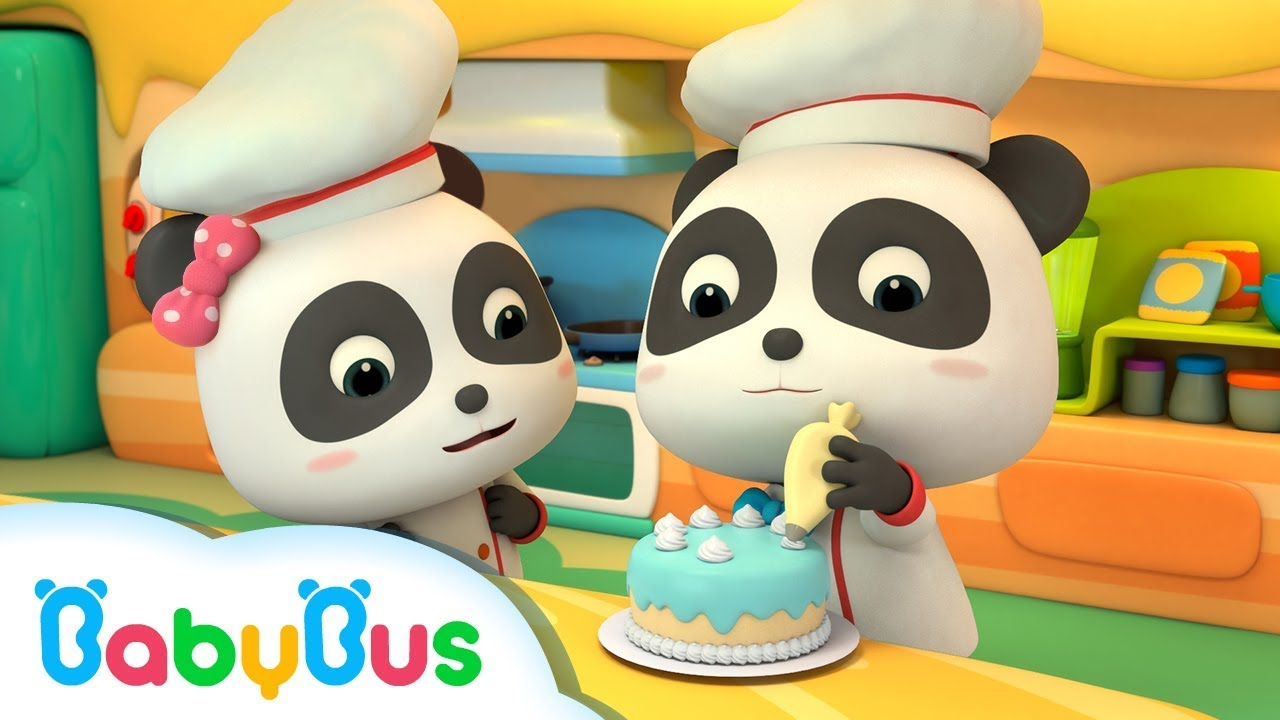 Fun Baby Panda Play & Learn Cake Cooking Colors Kids Game Fun Kitchen Games For Children