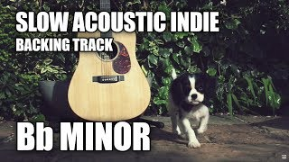 Slow Acoustic Indie Guitar Backing Track In Bb Minor