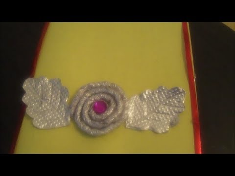 Recycling silver foil paper rolling flower youtube for Best out of waste ideas for class 7