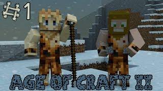 Minecraft - Age Of Craft II ; Episode 1 - La Préhistoire ! [ Aventure Modée Évolutive ]