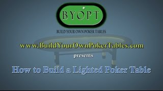 How To Build A Poker Table With Lights Video