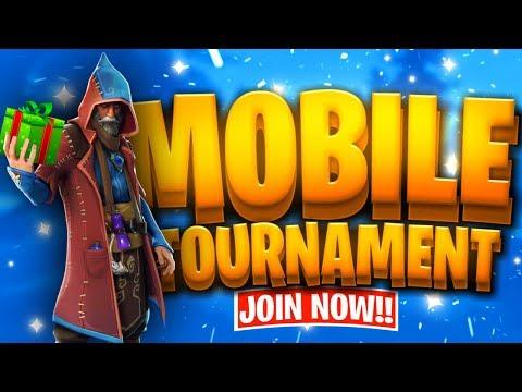 Fortnite Mobile Custom Tournament with PRIZE // Gifting Winners Free Skins // Fortnite Mobile Live