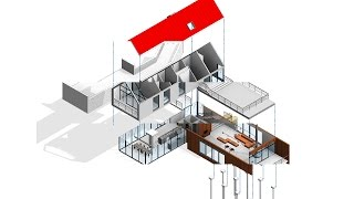 Revit tutorials-How to make Exploded 3D View- Revit presentation techiques.