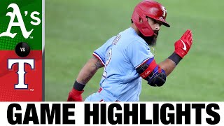 Rougned Odor Lifts Rangers To 6-3 Victory | Athletics-Rangers Game Highlights 9/13/20