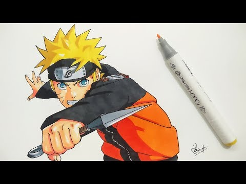 How to Draw Naruto - Step by Step (Tutorial)