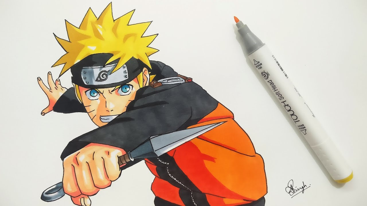 How to draw naruto step by step tutorial