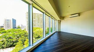 【高級マンション】窓から緑を望める開放感のある角部屋。三菱地所の手掛ける分譲タワーマンション。「パークハウス清澄白河タワー」
