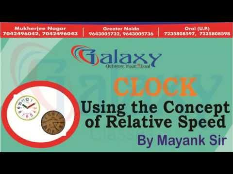 CLOCK - Using the Concept of Relative Speed By Mayank Sir