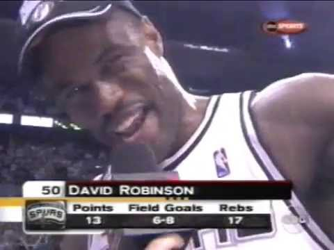 David Robinson's Final Game (13pts, 17reb, 2blk, NBA Championship)