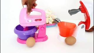 THE BATTLE OF 2 KITCHEN MIXERS TOYS //MIXER vs MIXER// WHICH ONE IS  BETTER