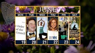 Calendar: Week of June 19