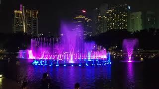 쿠알라룸푸르 페트로나스타워 분수2
