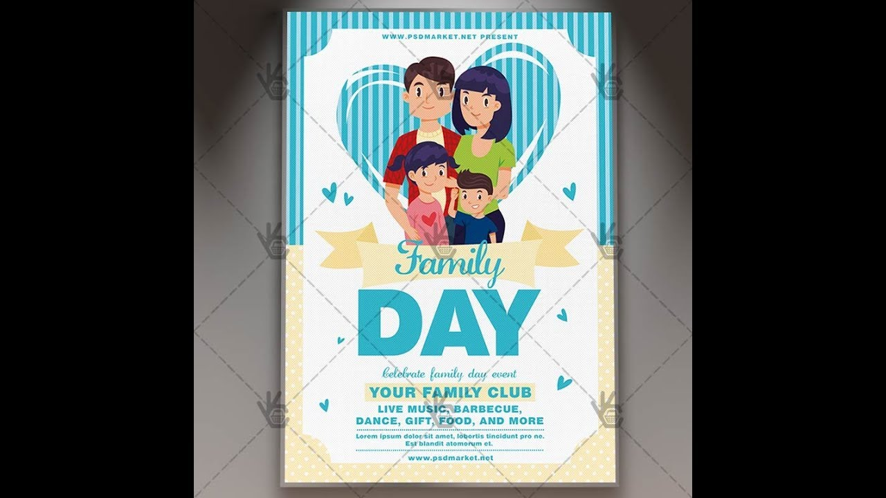 family day party community flyer psd template youtube