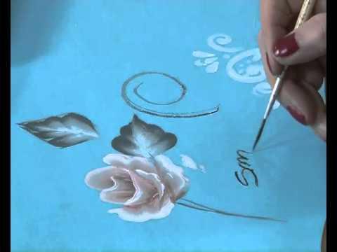 Como pintar una rosa pinceladas pintura decorativa - Como secar una rosa ...