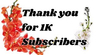 Thank You For 1K Subscribers!!