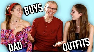 Dad Buys Daughters Outfits Challenge - Nina and Randa