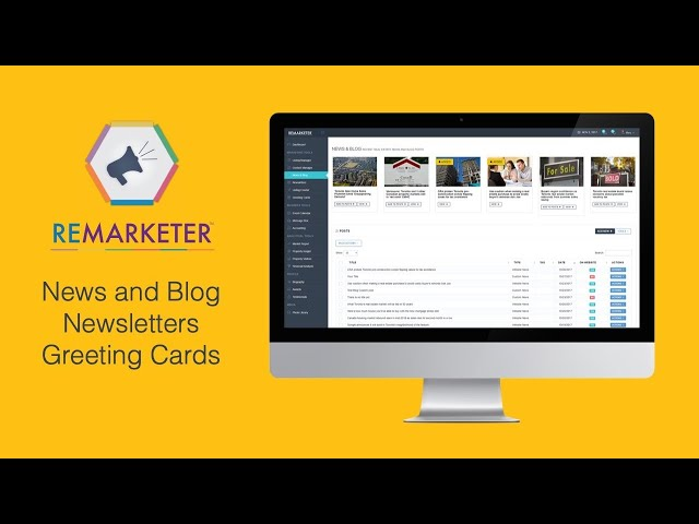 REMARKETER Training -  News & Blog, Newsletters and Greeting Card modules