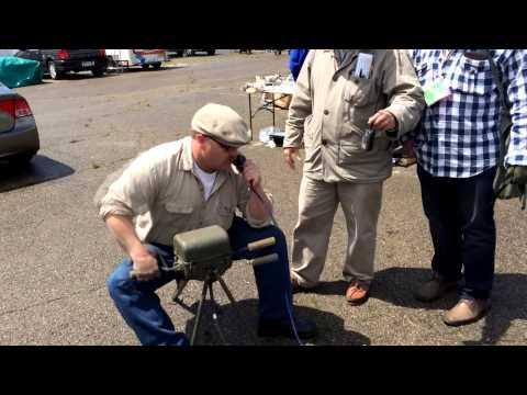 Dayton Hamvention: BC-1306 Military HF human-powered radio in action!