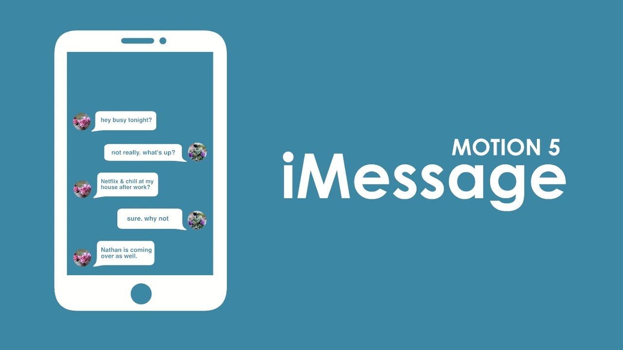 How to Animate TEXT MESSAGES (iMessage) with Motion 5